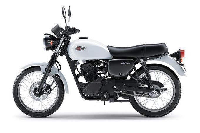 Kawasaki W175 Warna Pearl Crystal White (Putih)